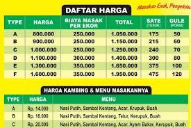 HARGA KAMBING AQIQAH JAKARTA 2018