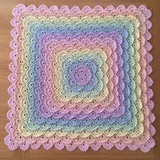 Crochet Baby Blanket Shell Pattern