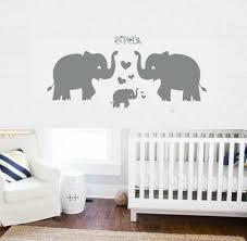 cute elephant family with hearts wall decals baby nursery ki