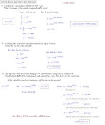 exponential growth worksheets laveyla com