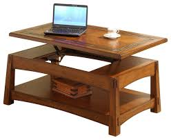 riverside craftsman home lift top cocktail table in americana oak