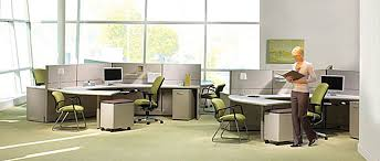 open office concept. open office with woman concept