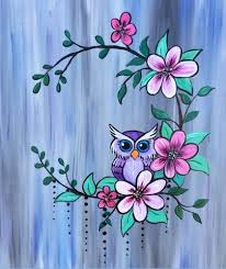 DaVinci & Drinks – <b>Owl</b> & <b>Flowers</b>