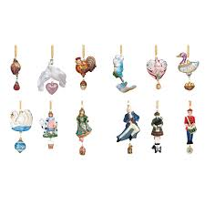 reed and barton 12 days of collection tree decoration reed and barton ornaments