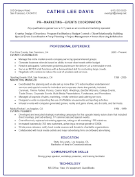 Gallery Of Resume Sample For Events Marketing Retail Customer