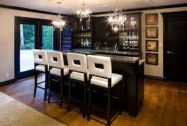 Unique Basement Bar Stools Bring Brightness To The Design In Creativity Ideas