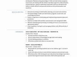 Bistrun Excellent Sample Daycare Resume Child Care Best Of Aged