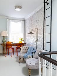 White Brick Wall Living Room Design  Home InteriorsWhite Brick Wall Living Room