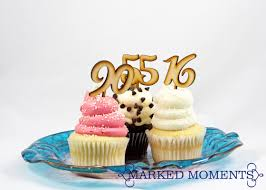 Cake Toppers Number Cupcake Toppers For Anniversary Birthday