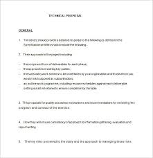 Technical Offer Sample Technical Proposal Template 19 Free Word Excel Pdf