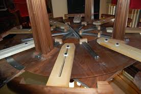 round expanding dining room table by com expandable table plans amazing 8 expandable dining table plans