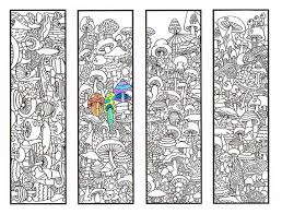 Small Picture Coloring Bookmarks Mushroom bookmark coloring page for