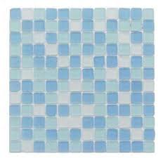 ocean wave beached 12 in x 12 in x 8 mm frosted glass mosaic