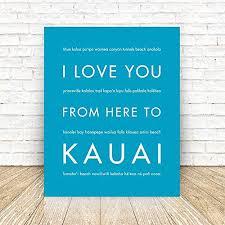 Amazon Com Kauai Hawaii Unframed Art Print Handmade