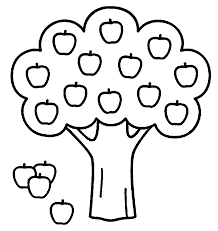 Small Picture Apple Tree Coloring Page at Children Books Online