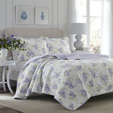 Cotton Quilts & Bedspreads For Less   Overstock.com & Laura Ashley Keighley Lilac Cotton 3-piece Quilt Set Adamdwight.com