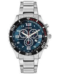 citizen men s chronograph stainless steel bracelet watch 43mm gallery