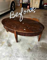 oval coffee table makeover coffee