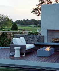 Modern Patio Design with Rectangular Outdoor Fireplace from Stardust Modern  Desi contemporary-patio