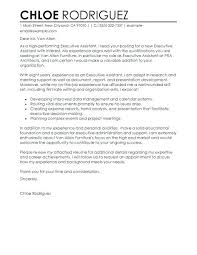 Executive Assistant Cover Letter Examples Cover Letter Template For Office Assistant