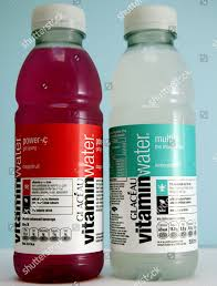 Light Blue Vitamin Water Vitamin Water Energy Drink Rap Artist 50 Editorial Stock