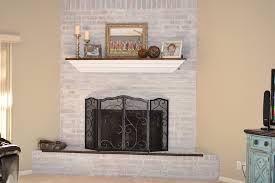 image of white stone fireplace painting
