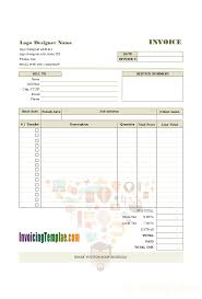 Design An Invoice Logo Design Invoice Sample