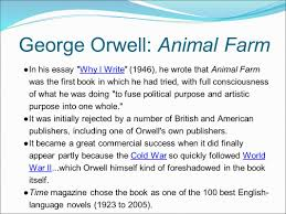 essay animal farm animal rights essay topics animal farm by george  russia and beyond why begin here george orwell wrote his george orwell animal farm 9679in his