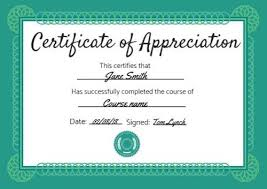 Certificate Of Appreciation Templates Free Download 100 Certificate Of Appreciation Templates To Choose From