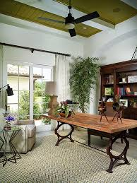 Trendy home office Decor Materialicious 10 Ways To Go Tropical For Relaxing And Trendy Home Office
