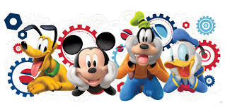 glam bedroom furniture mickey and friends mickey mouse clubhouse capers giant wall decal glam