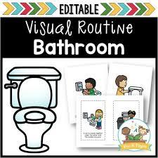 Preschool bathroom Childrens How To Teach Preschool Kids To Use The Bathroom Prek Pages Bathroom Visual Routine Prek Pages