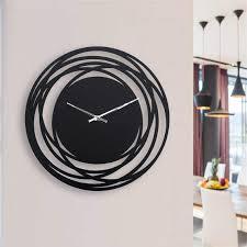 black large wall clock modern wall