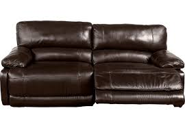 leather sofas with recliner cindy crawford home auburn hills brown reclining sofa