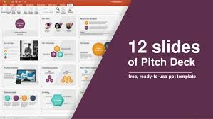 12 Slides Of Pitch Deck Free Ready To Use Ppt Template