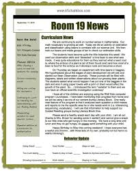 Class Newsletter Classroom Newsletters That Parents Love