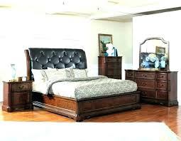 wood leather bedroom furniture and headboard bed dark wood and leather king size bed headboard