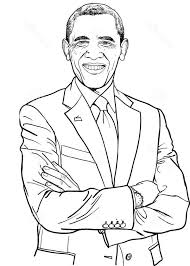 Small Picture obama coloring page