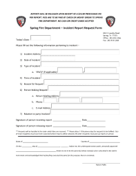 fire incident report form template fire department incident report fill online printable fillable