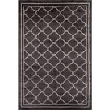 world rug gallery trellis contemporary modern design dark gray 3 ft x 5 ft indoor area rug 103 d grey 3 3 x 5 the home depot
