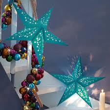 Weihnachtsstern In Kräftigem Türkis Xmas Lights