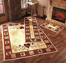 rustic primitive decor hearts stars berries accent runner area rug country whole