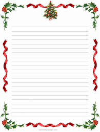 Christmas Letterhead Template Free Printable Christmas Stationery Templates