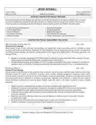 Construction Resume Examples Interesting Construction Project Manager Resume Examples Resume