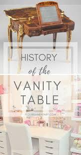 Vanity table Vintage Vintage Vanity History Flourishmentary How The Vintage Vanity Became The Modern Makeup Table Flourishmentary