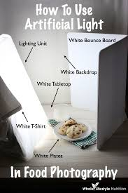 behind the scenes how to use artificial light in food photography