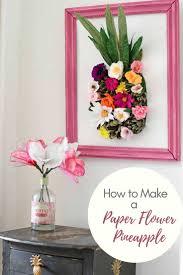 Paper Flower Decor How To Make A Paper Flower Wall Decoration Pillar Box Blue