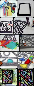 paper craft idea stained glass art project