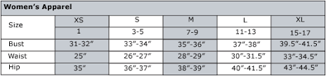 Image result for us size chart women's