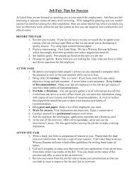Sample Resume For Job Fair Gallery Creawizard Com